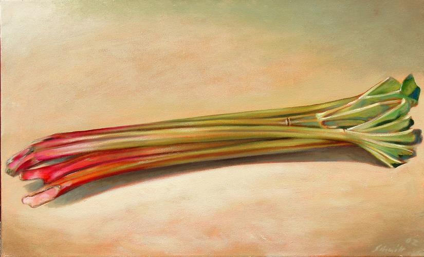 Rhabarber 2002 Oel auf Lnwd 70x100cm